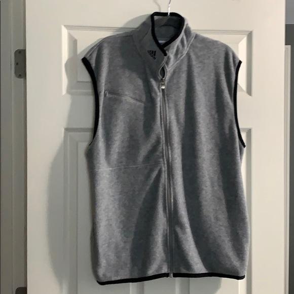 Mens | Adidas Fleece Vest Grey - Large EUC